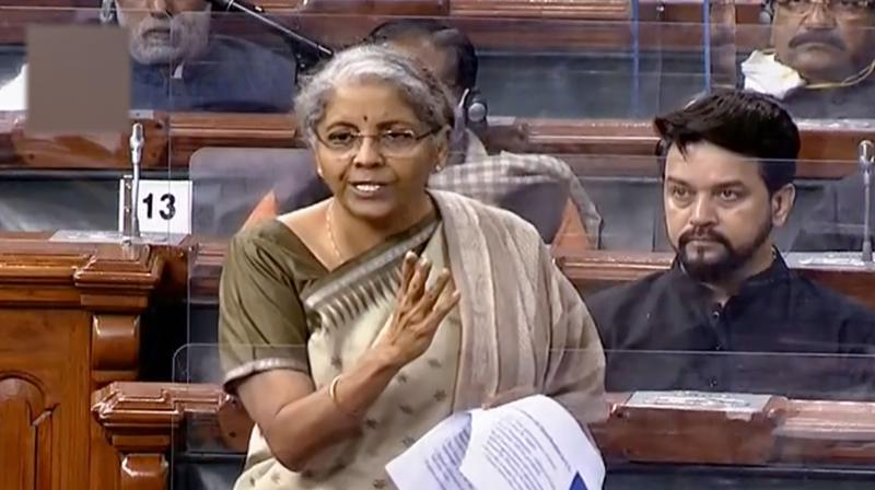 Finance Minister Nirmala Sitharaman in the Lok Sabha during Budget Session of Parliament. (Photo: PTI)
