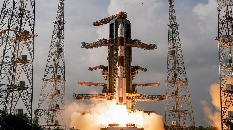 Subject to weather conditions, the blastoff is scheduled at 10.24 am from the Satish Dhawan Space Centre, Sriharikota, where the countdown for the mission commenced at 8.54 am on Saturday. (Representational Photo: PTI)