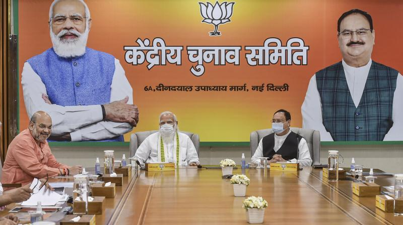 It was only under Lal Krishna Advani, and then especially under Narendra Modi, that the BJP became the mass-based electoral force it has become, from the cadre-based party that was the Jan Sangh. (Photo: PTI)