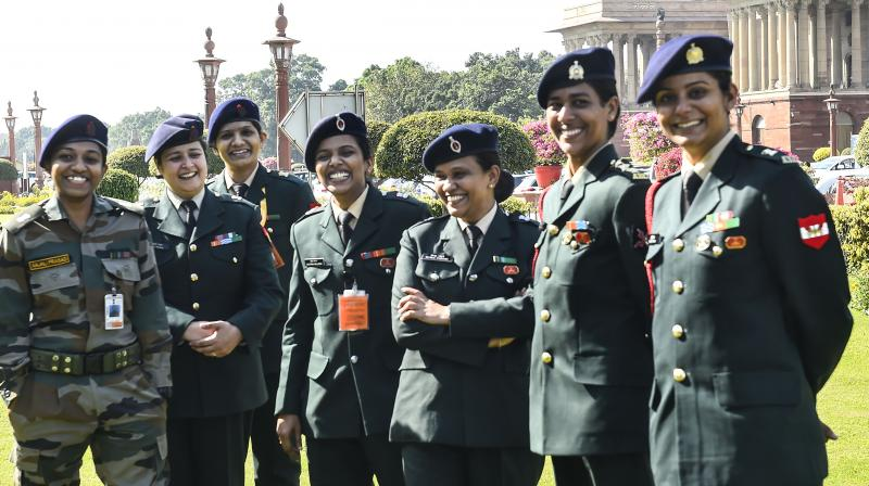 The traditional view that women are unsuited to combat roles may have caused these deep-seated inhibitions about promoting women even when they are otherwise as qualified as men who take up a career in the armed forces. (Representational Photo: PTI)