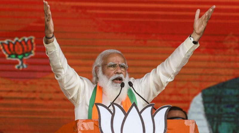 Prime Minister Modi's inability to defend India against the second Covid-19 wave, and his inability to cajole the Chinese from withdrawing from areas they occupied in Ladakh now make him an easy target. (Photo: AP)