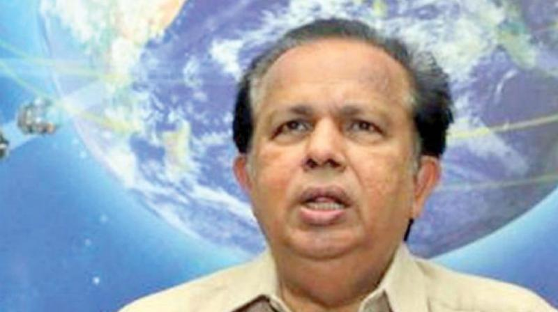Nair, who had served as Chairman of the Indian Space Research Organisation, said the LDF government should focus on rebuilding Kerala after the devastating floods last year that left a trail of destruction on a massive scale. (Photo: File)