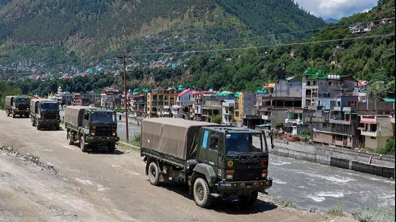 Army trucks move towards Ladakh in the midst of border stand-off. (PTI Photo)