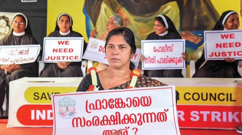 Nuns have broken ranks with the church by openly protesting in the streets of the Kerala against bishop Franco Mulakkal for allegedly raping a nun.