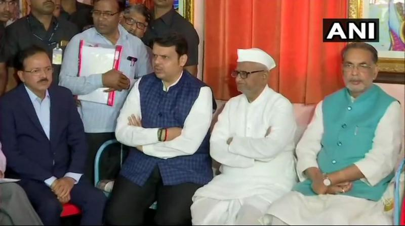 Anna Hazare, who began his indefinite fast on January 30 over appointment of anti-corruption watchdogs, has lost around 4.30 kg weight in the last seven days, doctors said. (Photo: ANI)