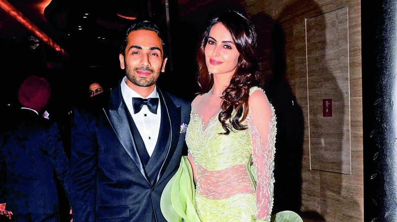 Mandana Karimi and Gaurav Gupta in happier times