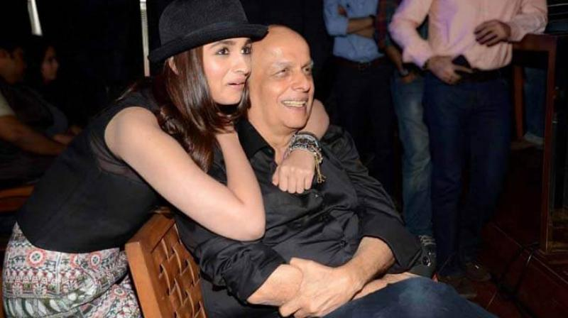 Alia Bhatt with her dad Mahesh Bhatt.