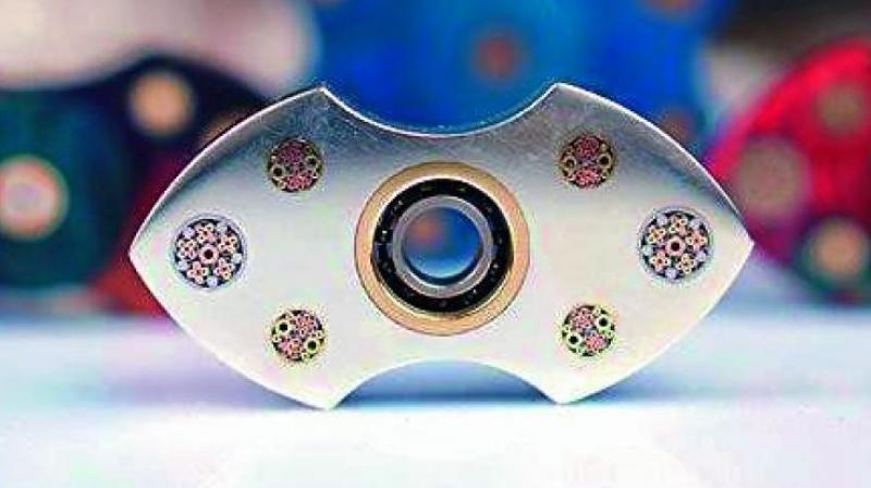 Sunnytech Customised 925 Silver Fidget Spinner.
