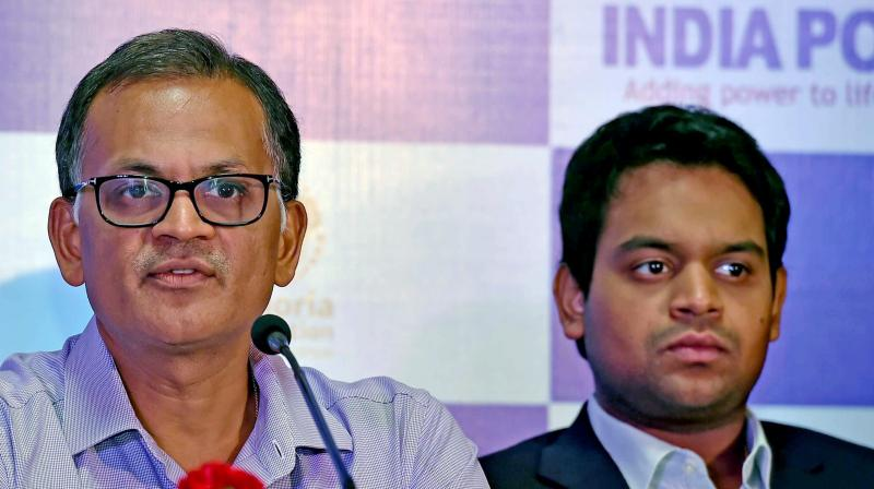 India Power chief Hemant Kanoria (left) addresses media on Wednesday. (Photo: PTI)