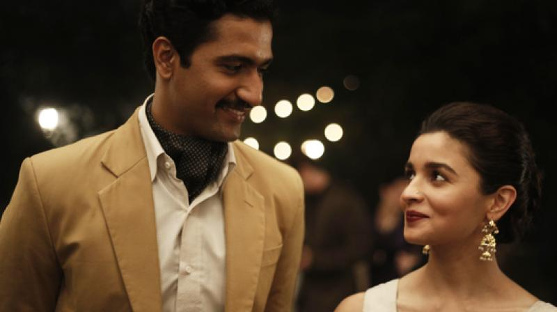 Alia Bhatt and Vicky Kaushal in the still from 'Raazi'.