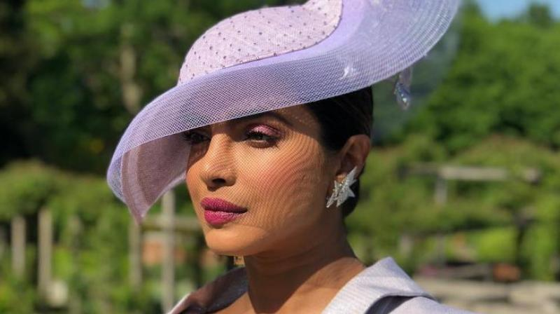 Priyanka Chopra at the royal wedding.