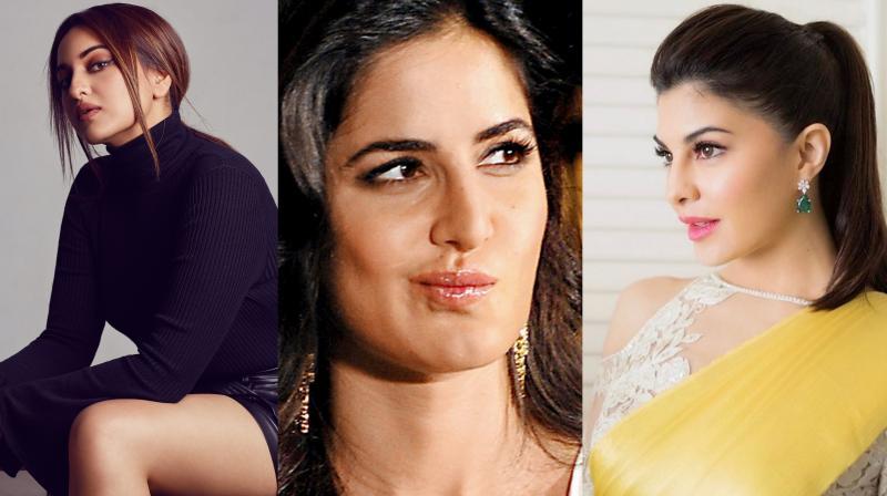Sonakshi Sinha, Katrina Kaif and Jacqueline Fernandez.