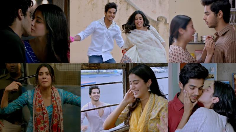 Screengrabs from 'Dhadak' trailer. (Courtesy: YouTube/DharmaProductions)