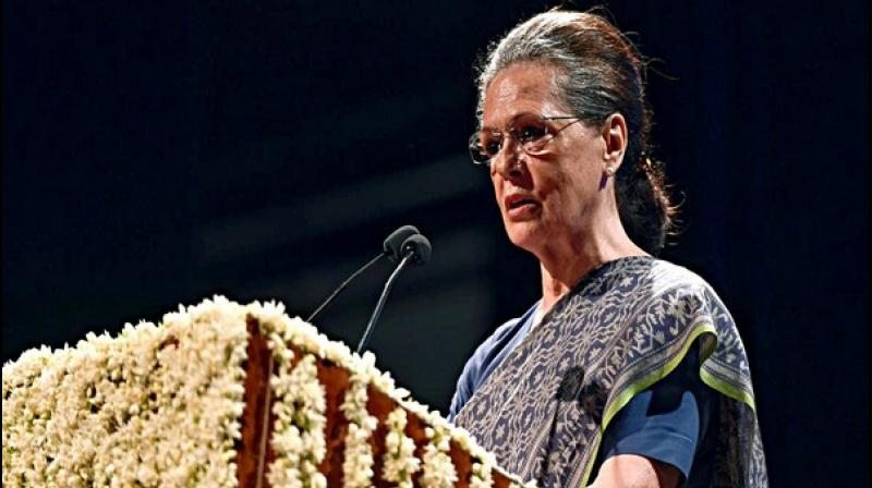 'Appropriation of leaders like Gandhi, Patel, Ambedkar being done with an aim of misinterpreting their true messages to further their nefarious agenda,' she added. (Photo: ANI)