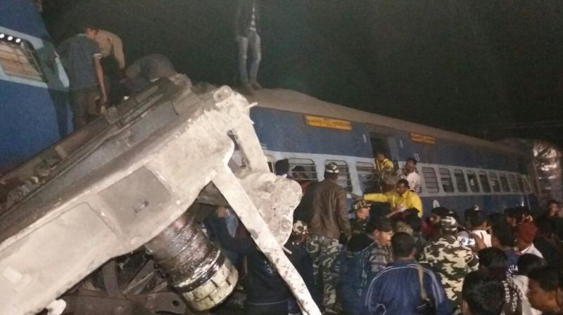 At least 25 bodies were retrieved from the spot and efforts were on by rescue teams two get other bodies out of the mangled coaches.