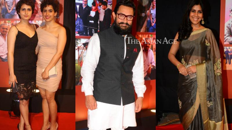 The who's who of Bollywood came out for a party thrown by the team of 'Dangal' to celebrate the humongous success of the film on Saturday. (Photo: Viral Bhayani)