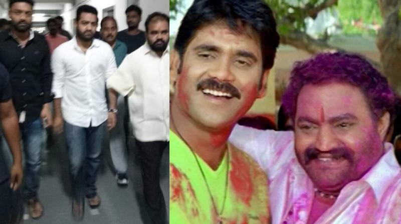 Jr NTR and Kalyanaram in hospital; Nandamuri Harikrishna with Nagarjuna in 'Seetharama Raju.'