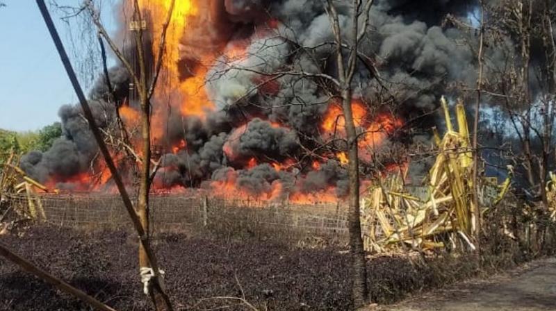 Fire break-out in Assam