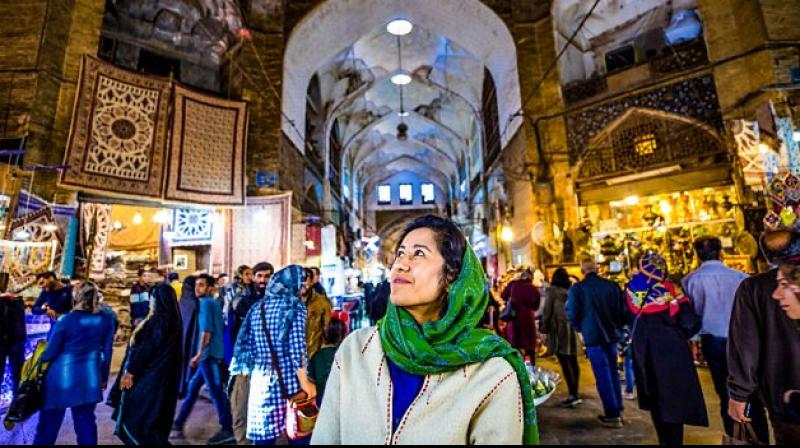 The Art of Persia, presented by the very talented and unassuming presenter Samira Ahmed purports to recreate the history of Persia through its artefacts. Photo: Twitter
