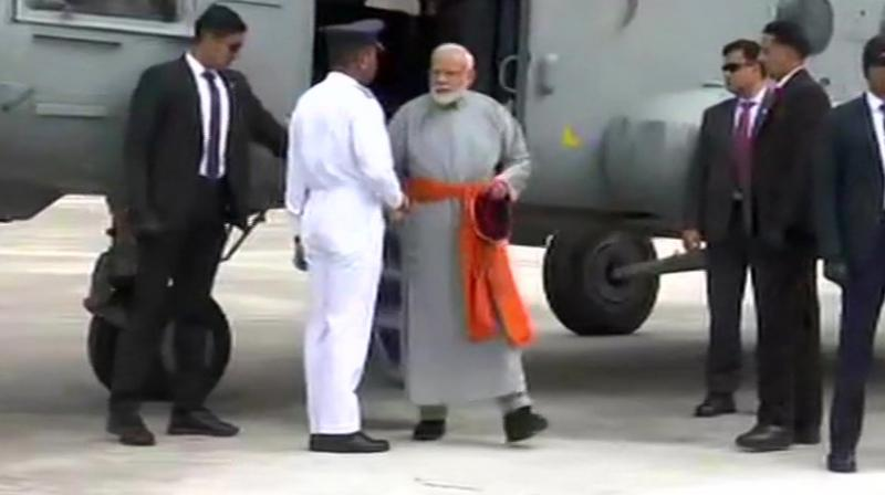 Keeping in view PM's arrival, security has been tightened near the shrine. (File Photo)