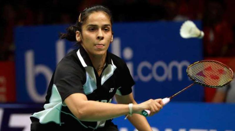 After the break, Saina used all her experience to take  the lead(14-13) for the firsttime in the match. Both the players went toe-to-toe as they matched shots for shots. Saina eventually pulled away and opened up 18-14 lead.(Photo: AP)
