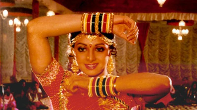 Sridevi in a still from 'Chandni.'