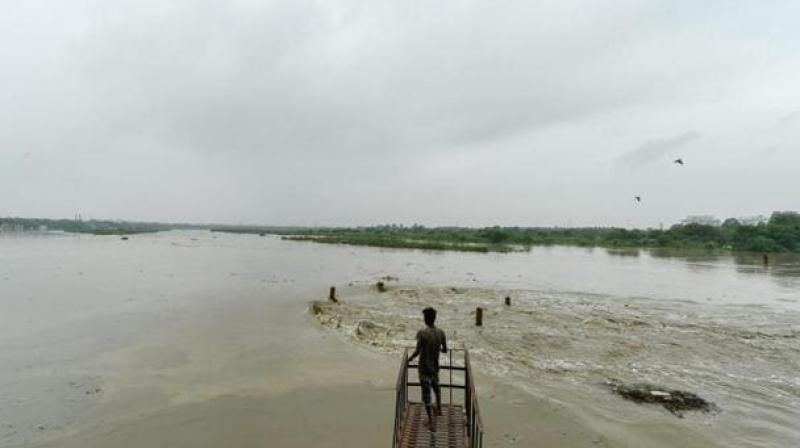In 2019, the flow rate had peaked at 8.28 lakh cusecs on August 18 and 19, and the water level in the Yamuna had touched 206.60 metres. (PTI file image)