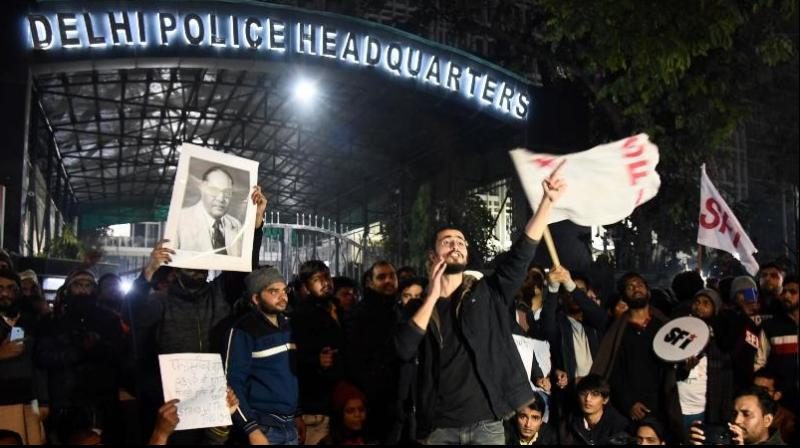The JNUTA members also slammed vice-chancellor M Jagadesh Kumar for asking students to put the past behind and return to the varsity premises. (Photo: PTI)