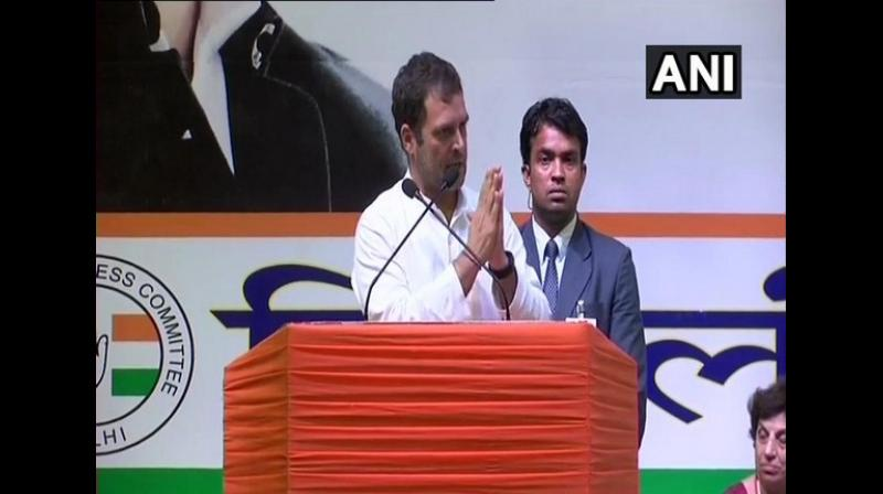 delegation of Congress leaders on Friday approached the Election Commission and sought its intervention in removing hoardings projecting achievements of the Narendra Modi government, claiming it as a violation of the model code of conduct. (Photo: File)