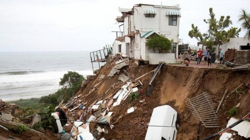 The city of Durban was amongst the most affected areas, which faced flash floods and rainstorm. (Photo:ANI)
