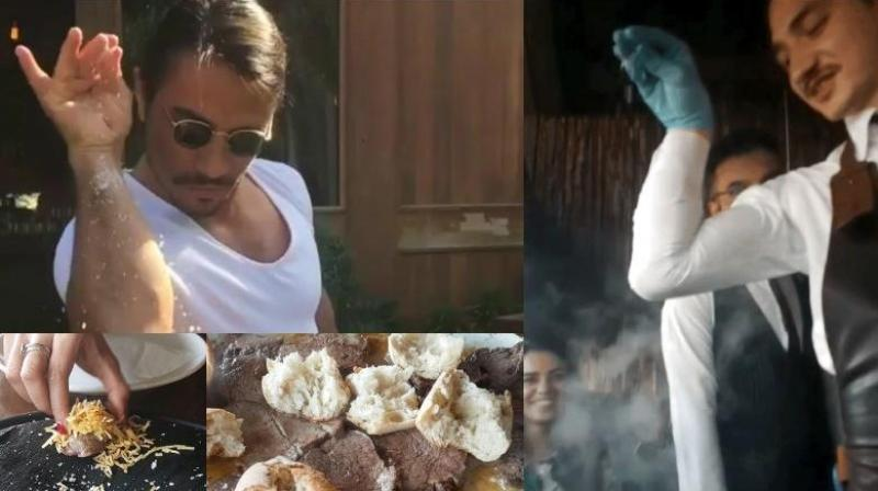 The man (and his food) behind the meme. (Photo: Alfea Jamal)