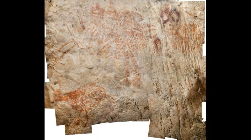 The discovery adds to a growing body of evidence that cave painting did not emerge only in Europe, as was once thought. (Photo: AFP)
