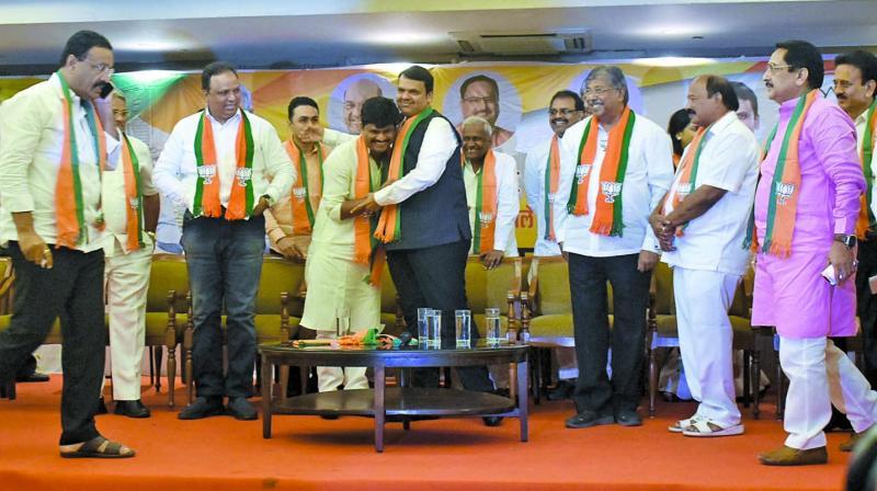 Former VBA leader Gopichand Padalkar joined the BJP on Monday. (Photo: Debasish Dey)