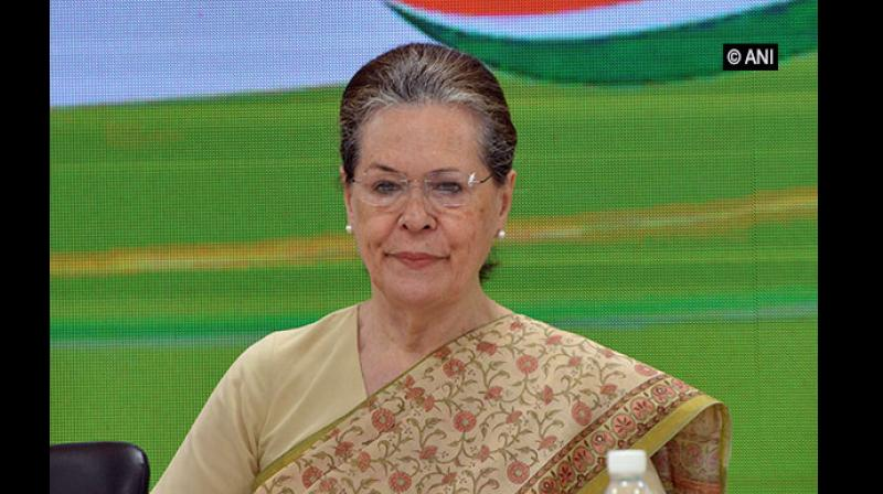 Sonia Gandhi admitted that the resolve and resilience of party workers will be under severe test in the electoral battles ahead but their self-confidence should not falter. (Photo: ANI)