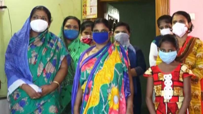 Female members of Dhabaleswar Sahu's family. — DC photo