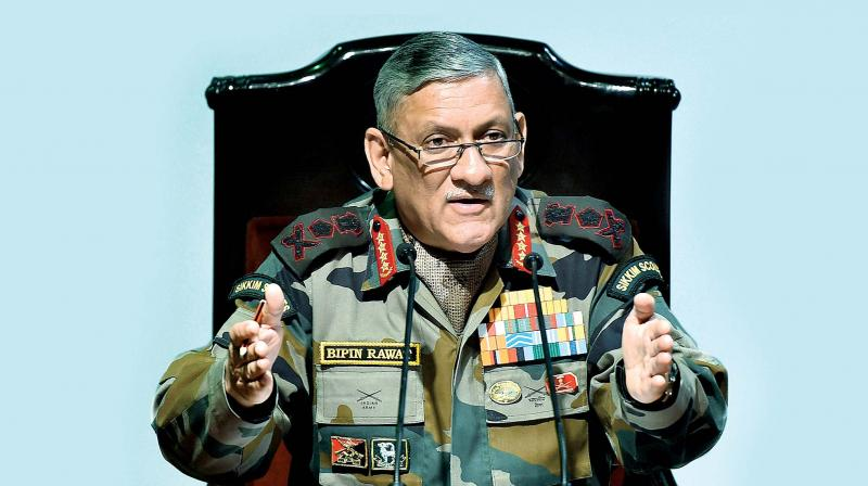Commenting on the situation in Jammu Kashmir, the Army Chief said, 'It is necessary for the people of Jammu Kashmir to understand that what is happening there is for them only'. (Photo: File)