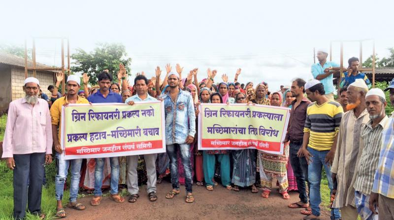 Locals, farmers and fishermen have fiercely protested the refinery project at Nanar.