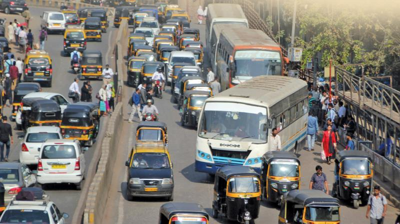 The officials said that the decision to bring all stakeholders on same page was after incessant jams on the road owing to hap hazardous activity barricading of the whole stretch when work had not even started.(Representational image)