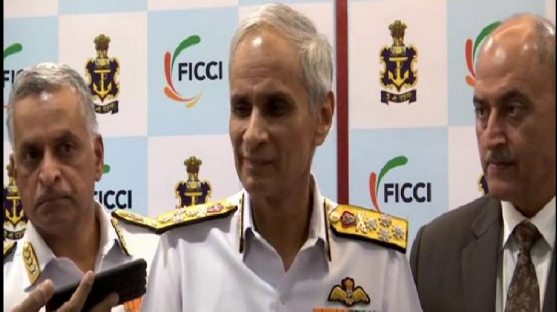 Navy Chief informed that by the end of 2019, India would be in position to sign a Rs 17,000 crore contract with US for buying 24 MH-60 Romeo multirole choppers. (Photo: ANI)
