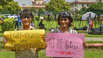 In a historic judgement on Thursday, Supreme Court decriminalised the archaic Sec 377 of IPC. (Photos: Mrugesh Bandiwadekar, AP, PTI)