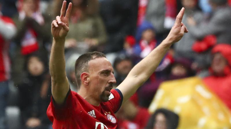Bayern sits on the top in the points table with 74 points and is just one win away from wrapping up yet another Bundesliga title. (Photo: AP)