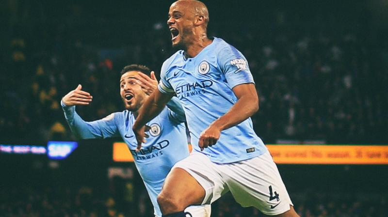 A 14th consecutive league win for City at Brighton and Hove Albion on Sunday will mean they will retain the Premier League title for the first time in the club's history. (Photo: Manchester City/Twitter)