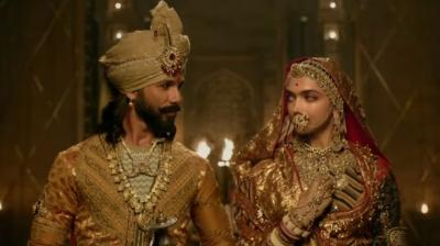 Shahid Kapoor and Deepika Padukone in a still from 'Padmaavat.'