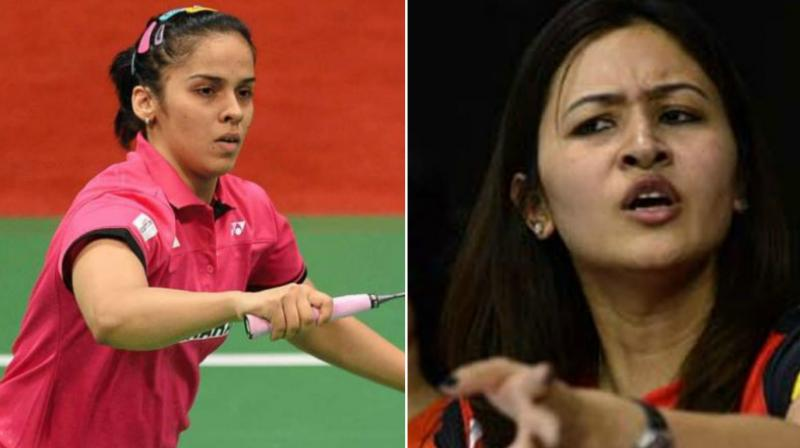 Jwala Gutta (right) on Tuesday took a jibe at Saina Nehwal (left) in series of tweet without taking her name. (Photo: AFP / PTI)