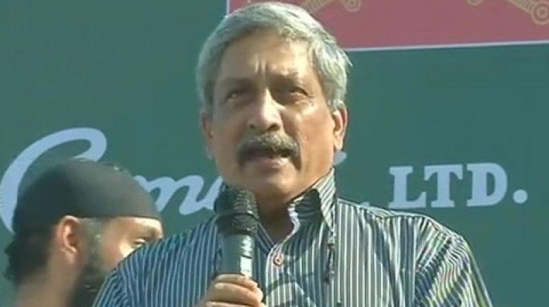 'Poor persons should also stay clean. I think it doesn't cost. In fact, it costs less. Simple things can be done,' Parrikar said. (Photo: ANI)