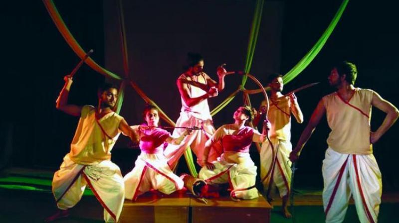 Scene from Jalpaiguri Sristi Mime Theatre's Mrigayagatha.