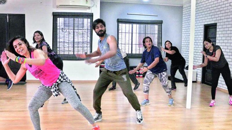 A Zumba routine normally embraces a blend of Latin, Caribbean, Indian, Brazilian, or African and hip-hop music and dance forms.