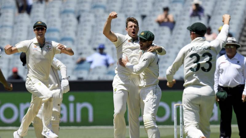 Australia are unlikely to play a second spinner in the third test against New Zealand and will probably field the same team that beat the tourists in Melbourne last week to seal the series, captain Tim Paine said on Thursday. (Photo:AP/PTI)