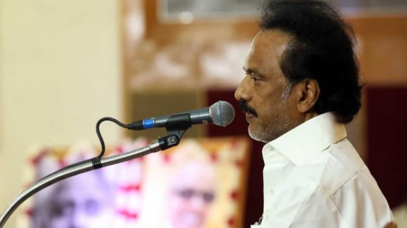 Praising the DMK's legal team led by T Wilson, Stalin said they approached the Madras High Court late at night and won the case the next day. (Photo: Twitter | @mkstalin)