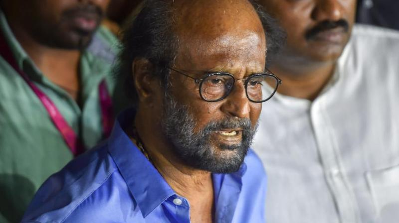 Speaking at the condolence meeting organised by the South Indian Artistes Association for Karunanidhi on Monday, Rajinikanth had said many leaders were present during the funeral at Marina. (Photo: PTI)